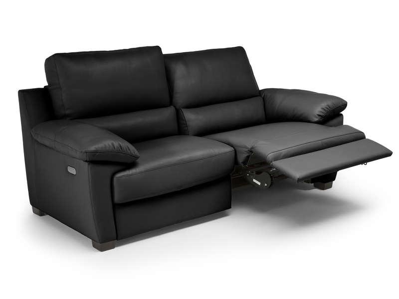 Canapé Droit Relaxation électrique 3 Places Giani En Cuir