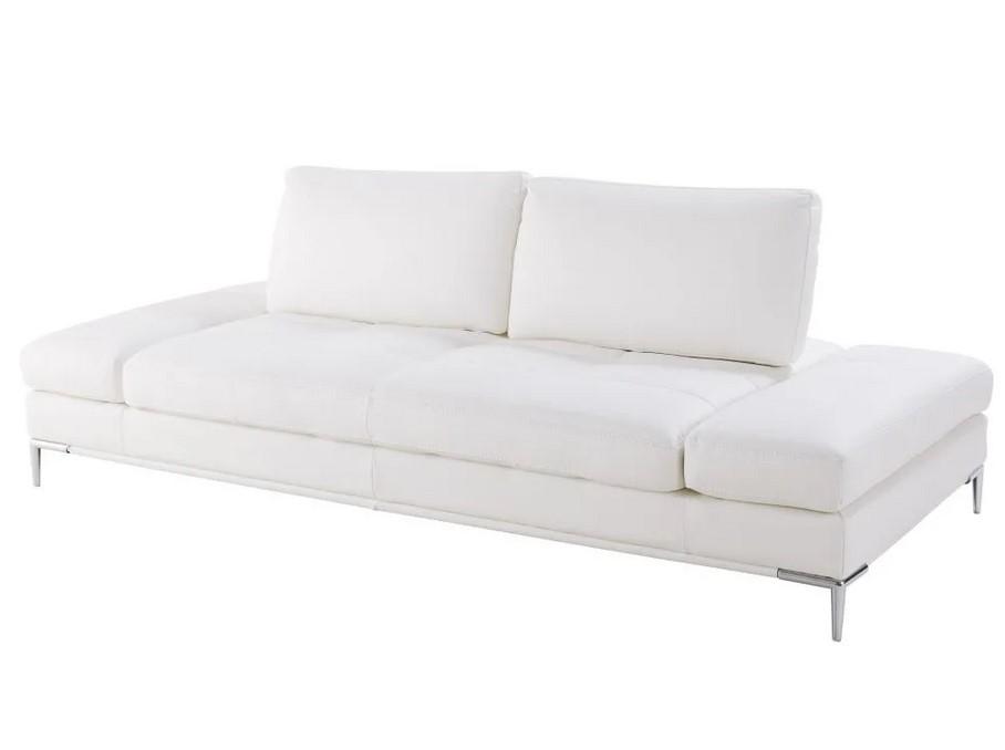 Canapé-lit 3/4 places Geller en suédine blanche - Maisons du Monde