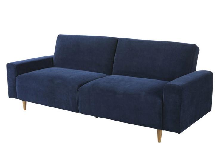 Canapé-lit 3 places Russel bleu foncé - Maisons du Monde