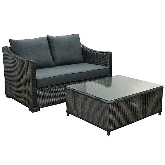 ensemble canap 2 places et table basse pro loisirs salon de jardin camif. Black Bedroom Furniture Sets. Home Design Ideas