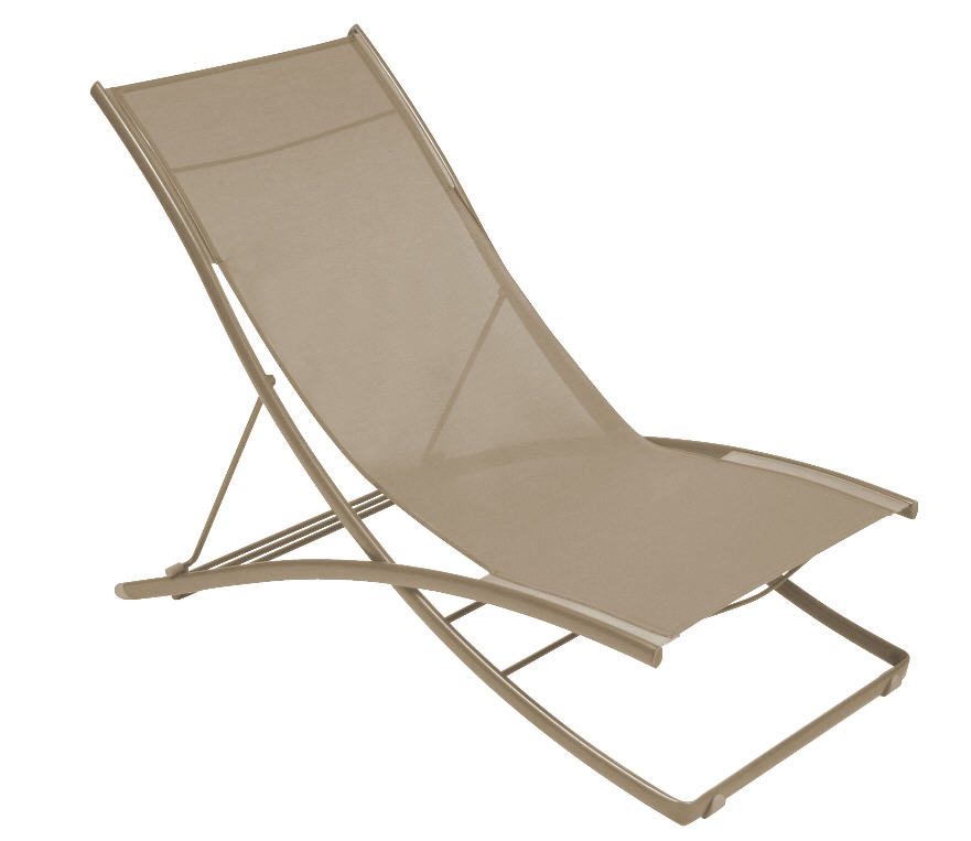 Chaise longue plein air pliante fermob chaise longue for Chaise longue legere pliante