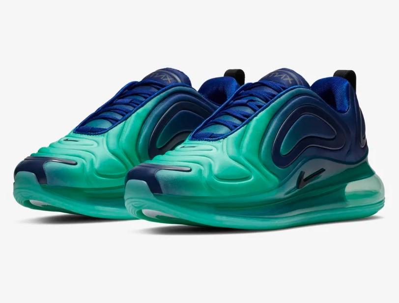 Nike Air Max 720 Bleu royal profond/Noir/Hyper jade pour Femme