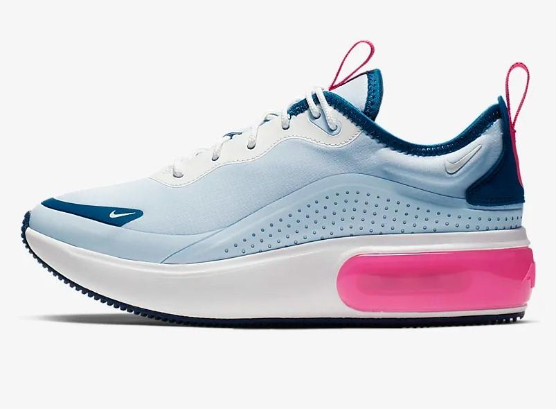 Nike Air Max Dia BleuBleu agressifHyper roseBlanc sommet