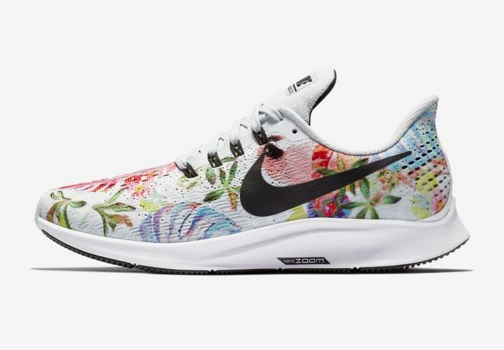 size 40 20931 c5779 Nike Air Zoom Pegasus 35 Floral Platine purBlancNoir