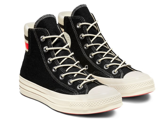 Converse Chuck 70 Retro Stripe High Top black/sedona red/egret
