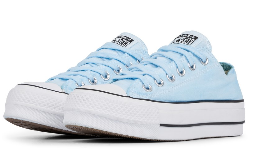Converse Chuck Taylor All Star Lift Low Top wash l blue dyed/white / Style