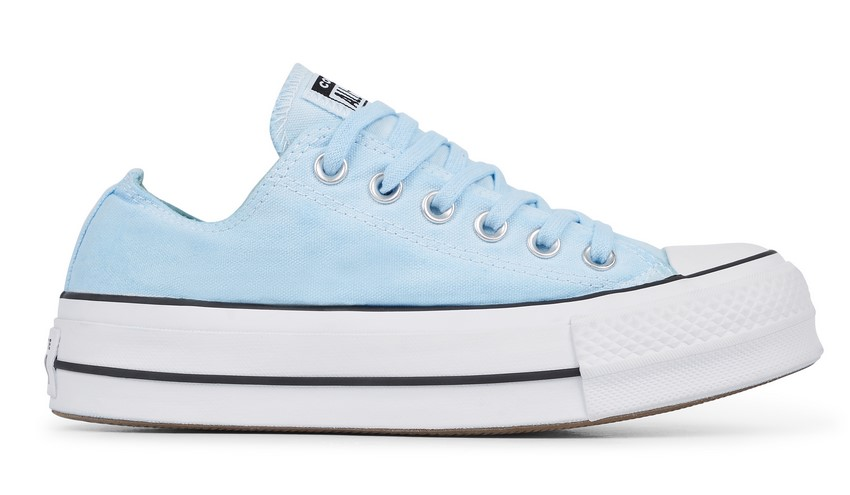 Converse Chuck Taylor All Star Lift Low Top wash l blue dyed/white / Style pour Femme