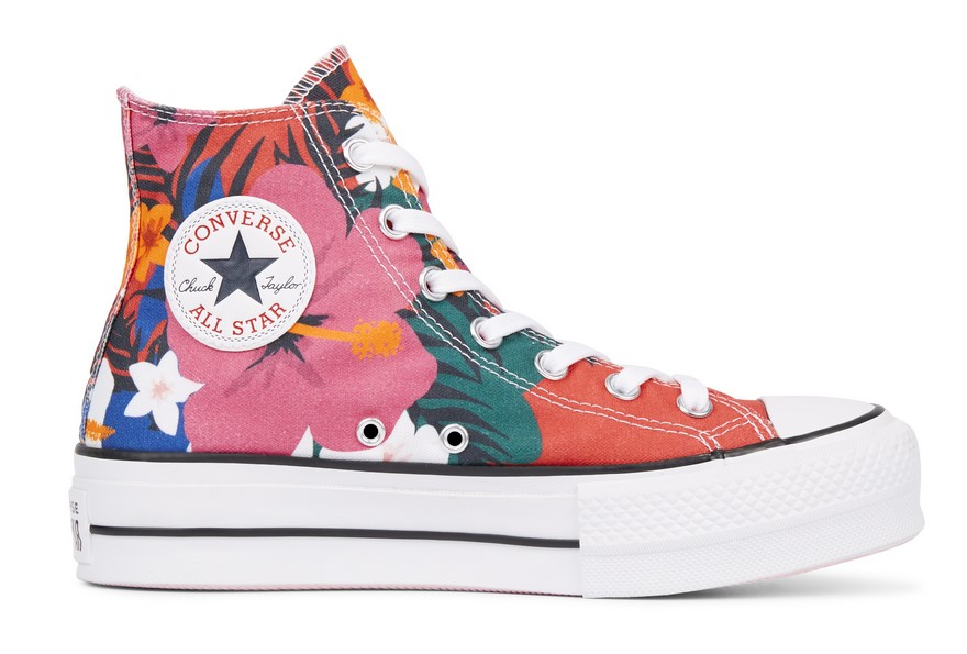 Taylor All Chuck Lift Paradise Converse Star Prints High Top 2WDEH9IY