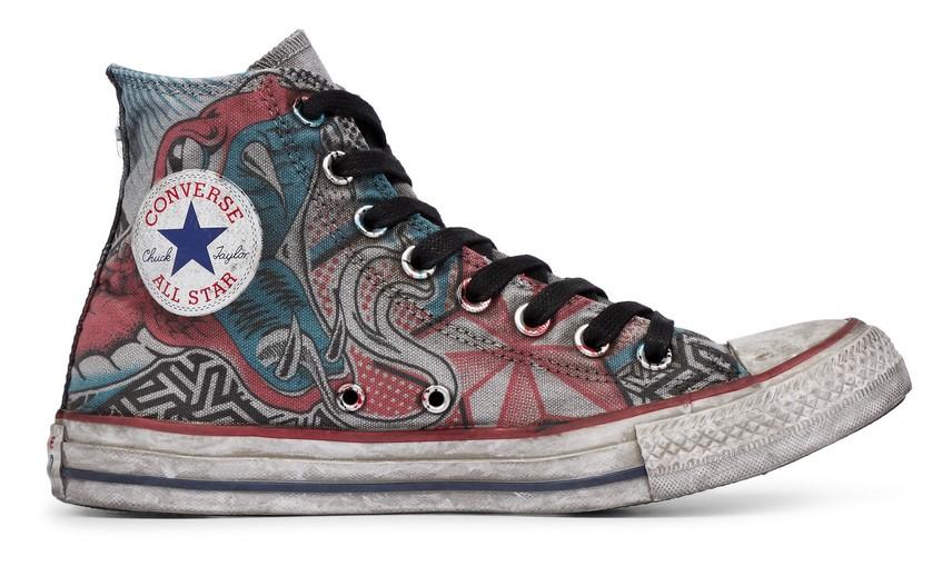 b78d9e36e6c Converse Chuck Taylor All Star Snake Tattoo High Top snake tattoo   Style -  Baskets Femme Converse