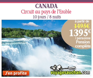 Circuits Voyages Auchan - Circuit Canada Au pays de l'Erable 1 495,00 Euros