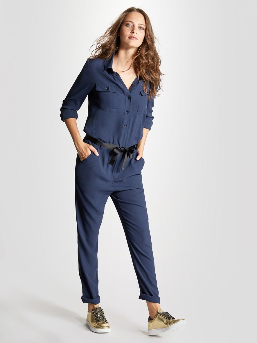 combinaison pantalon femme bleu nuit promod. Black Bedroom Furniture Sets. Home Design Ideas