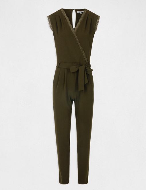 Combinaison-pantalon manches courtes Kaki Morgan