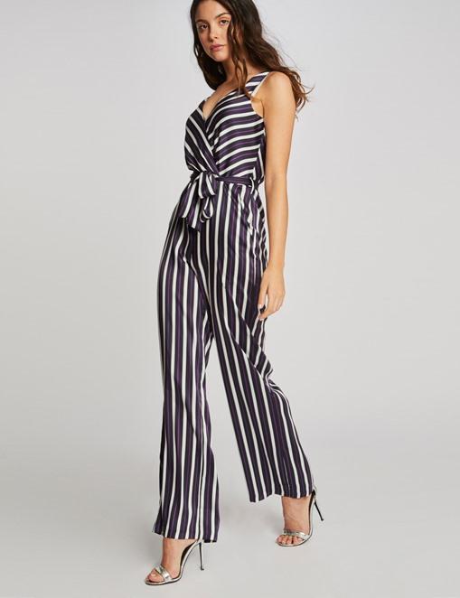 Combinaison-pantalon sans manche rayée Multico Morgan