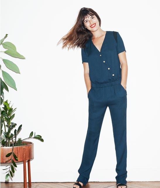 fournir un grand choix de grande remise meilleure sélection de Combi-pantalon crêpe manches courtes Sezane, Combinaison La ...