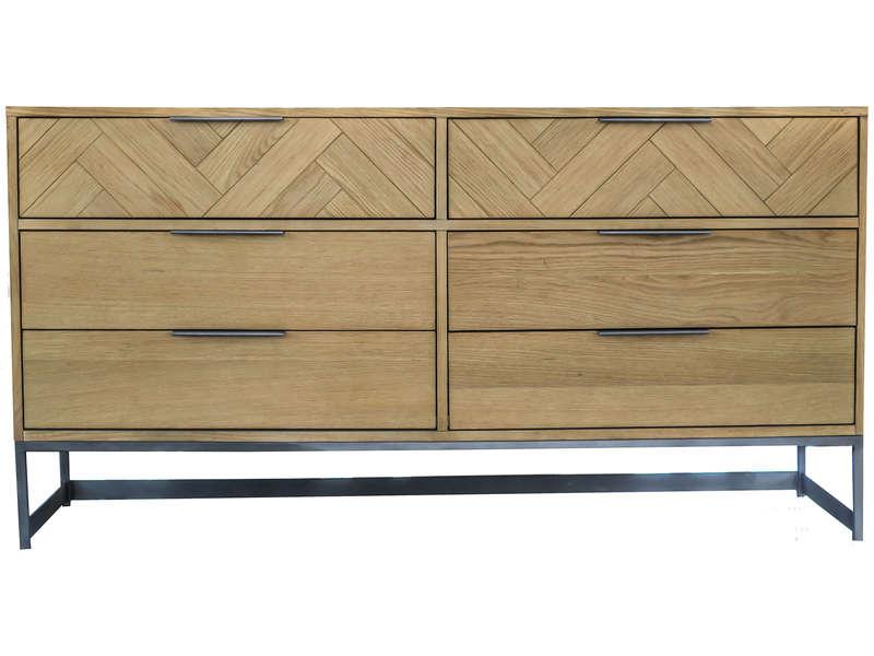 Commode 6 tiroirs CALIA pas cher - Commode Conforama - Iziva.com
