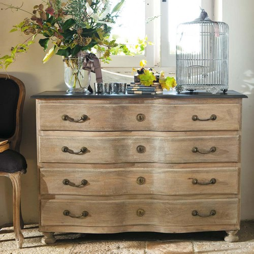 commode en manguier montaigne commode maisons du monde. Black Bedroom Furniture Sets. Home Design Ideas