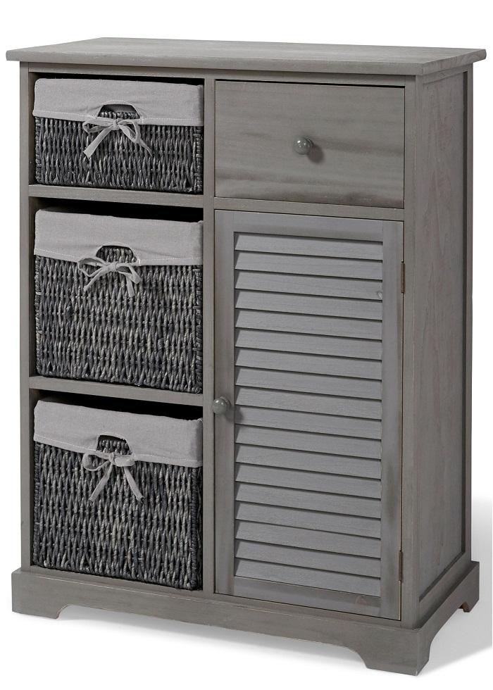 commode torsten gris shabby pas cher meubles salle de bain bonprix. Black Bedroom Furniture Sets. Home Design Ideas