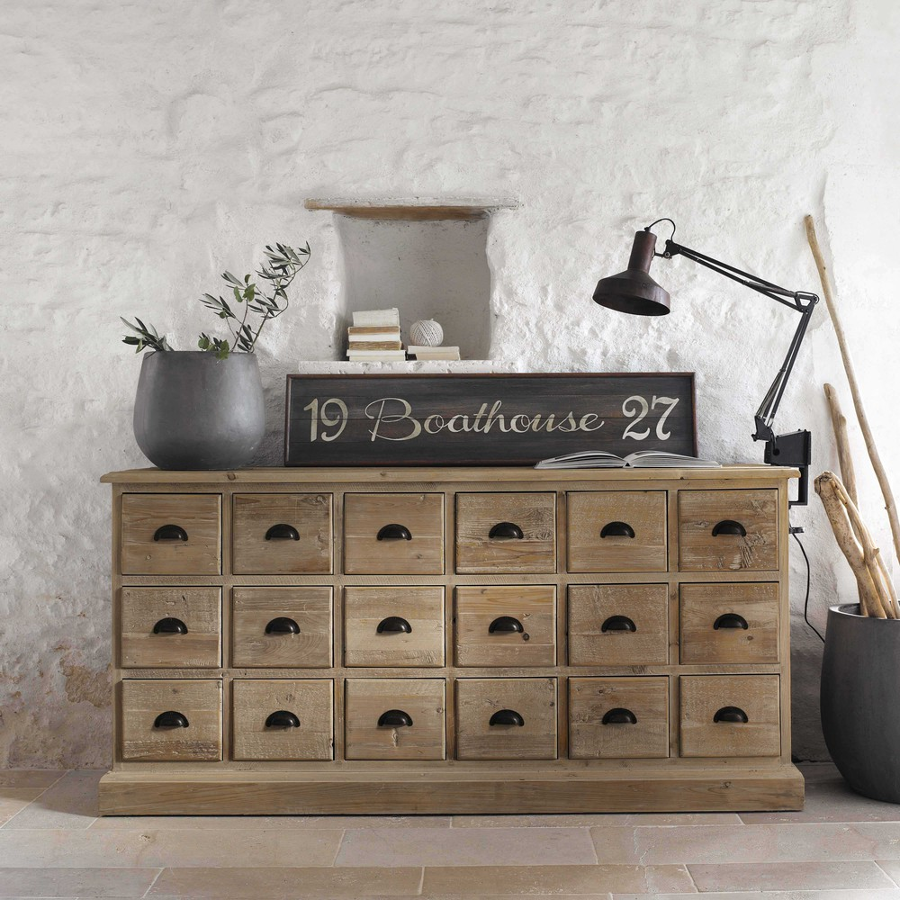 comptoir en bois recycl lausanne buffet maisons du monde. Black Bedroom Furniture Sets. Home Design Ideas
