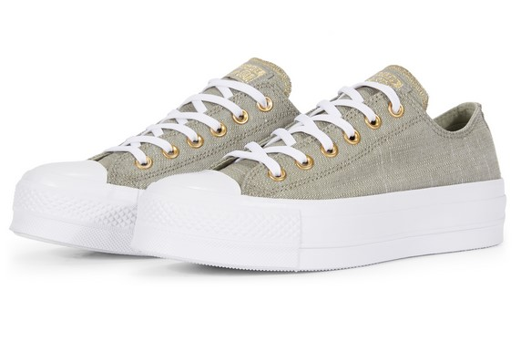 Converse Chuck Taylor All Star Lift Washed Linen Dark Stucco/Driftwood/White