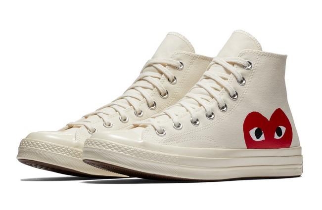 Converse x Comme des Garçons PLAY Chuck 70 High Top Milk/White/High Risk Red