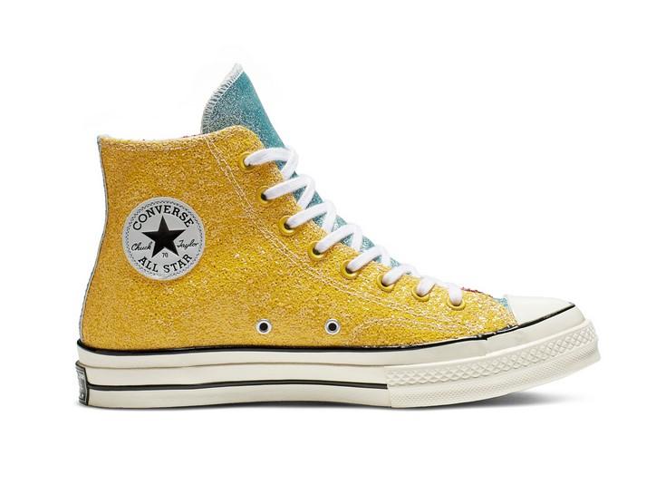 Converse x JW Anderson Chuck 70 Glitter High Top barbados cherry/sulphur/egret pour Femme