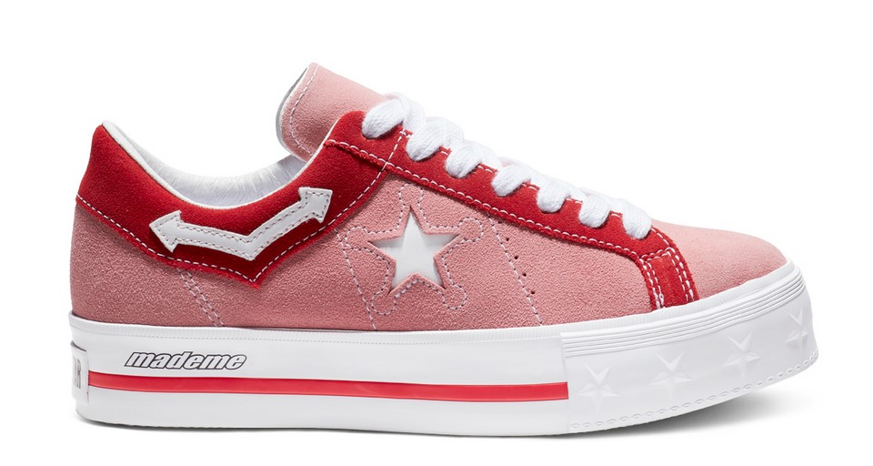 Converse x Made Me One Star Platform Low Top pink icing