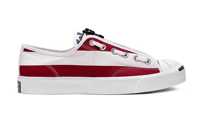 Converse x TheSoloist Jack Purcell Zip Low Top white/garnet/mood indigo pour Femme