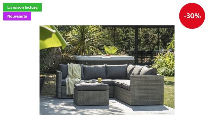 Canapé de Jardin en aluminium Sur Iziva - Iziva.com