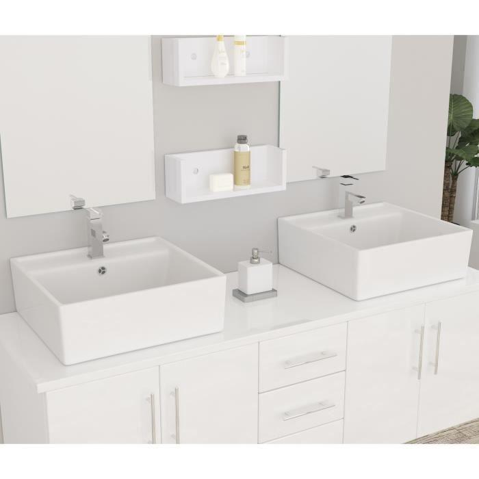 DIVA Ensemble salle de bain double vasque avec miroir