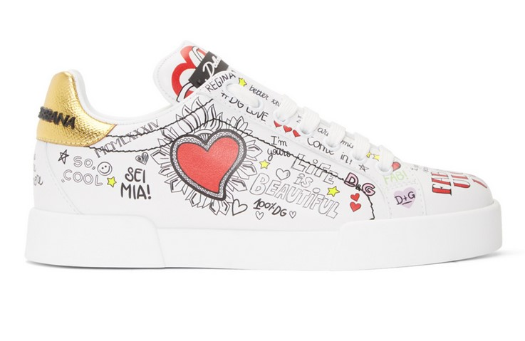 Dolce & Gabbana Baskets blanches All Over Graffiti