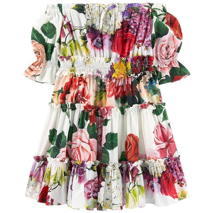 Robe Mini Me Dolce & Gabbana en popeline imprimée pour fille