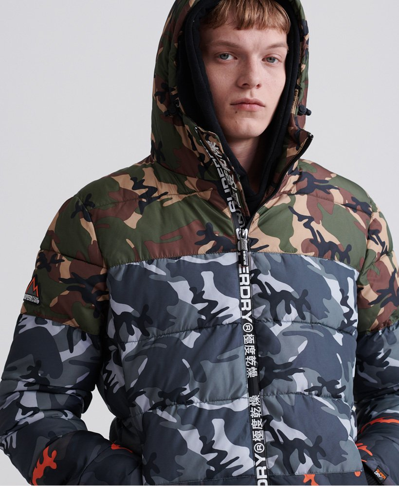 Superdry Doudoune Camo Mix Sports