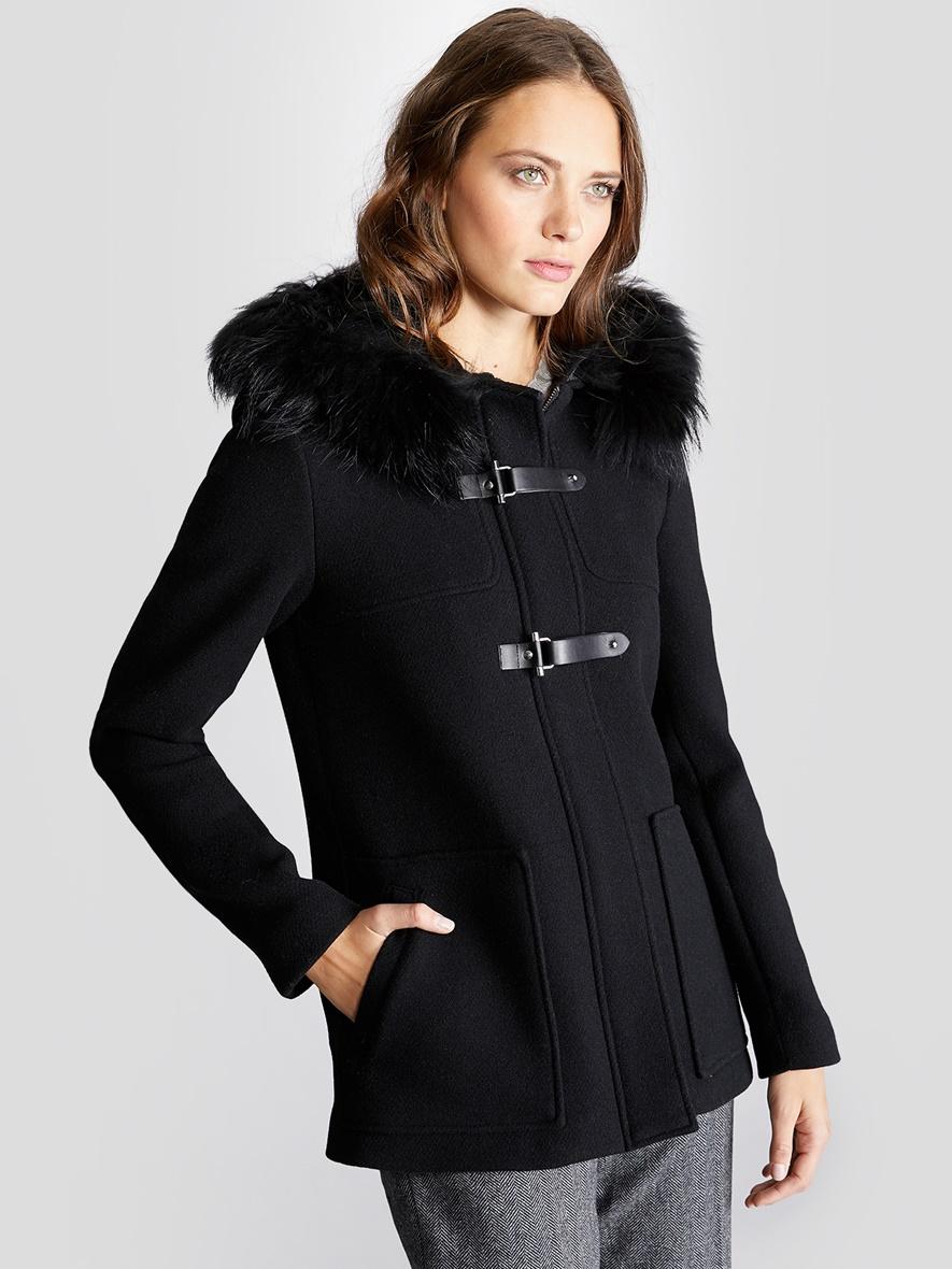 duffle coat cirilus fourrure femme