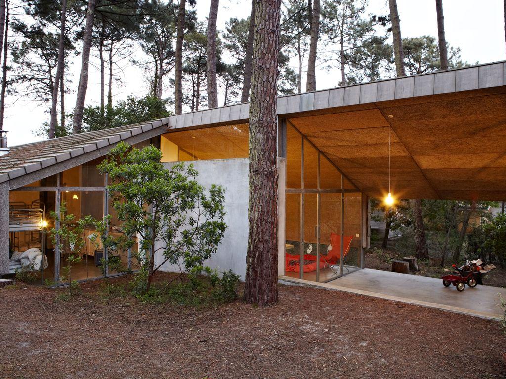 Abritel Location Vacances Lacanau - Maison d'architecte au milieu