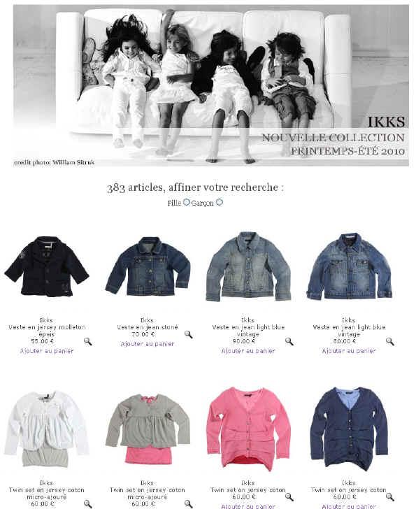 IKKS Vetements Enfants - La Nouvelle Collection IKKS sur Melijoe