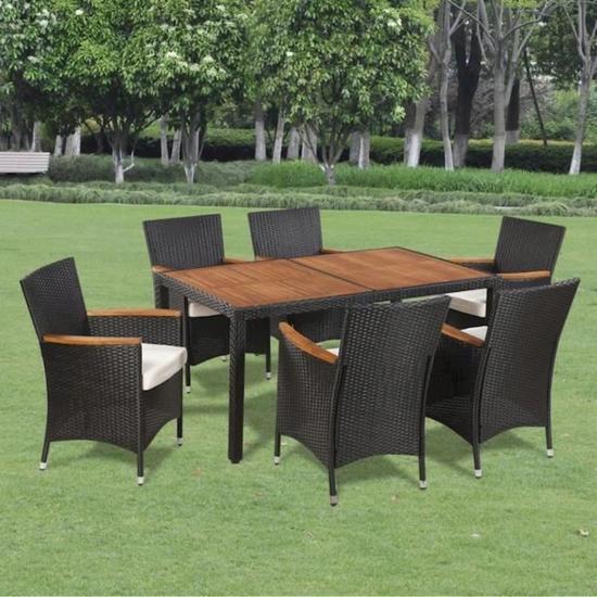Ensemble de mobilier de jardin 6 places