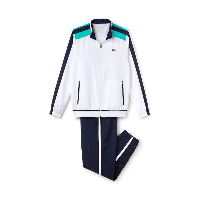 e1846568861a Ensemble de survêtement Tennis Lacoste SPORT en taffetas à bandes  contrastées