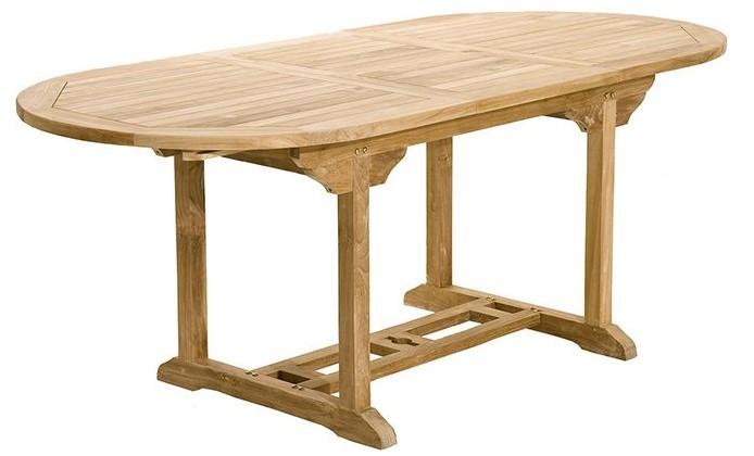 Ensemble Table de jardin et 6 chaises SANTALUZ en teck