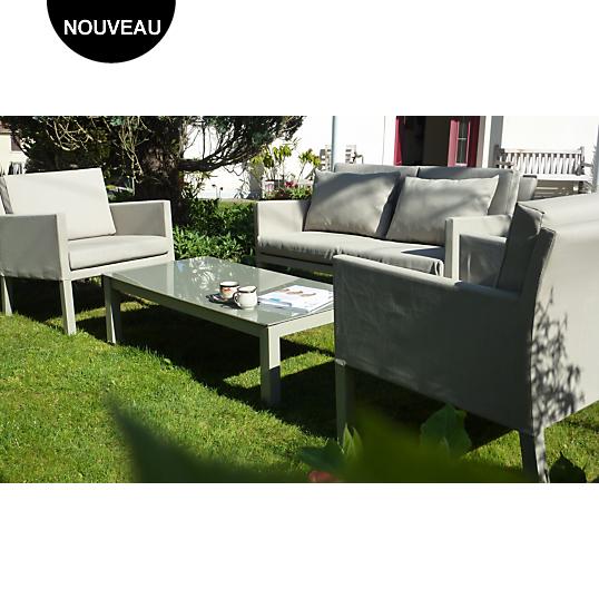 Ensemble Menton avec table basse Camif - Salon de jardin Camif ...