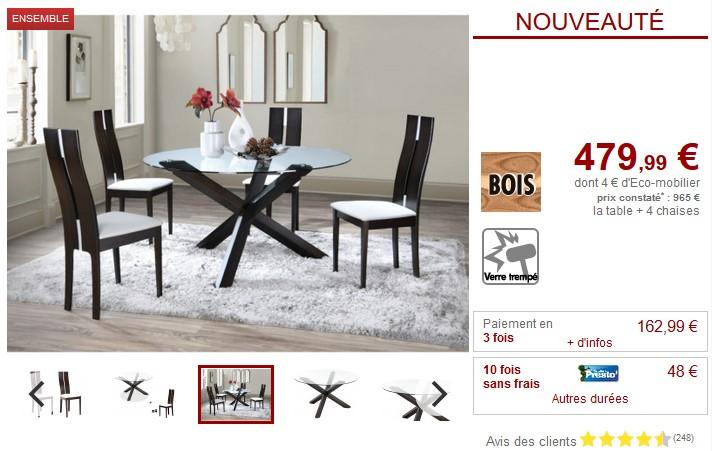 Cher Wengé Ensemble Salena Centauri4 Chaises Hêtre Pas Table 08nvwOmN
