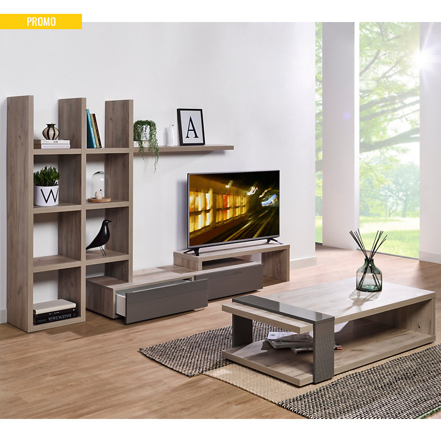 Ensemble TV et Table basse Soline - Camif