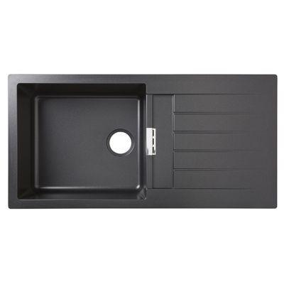 Evier En Granit Noir 1 5 Bacs A Encastrer Galvani Pas Cher Evier De Cuisine Castorama Iziva Com