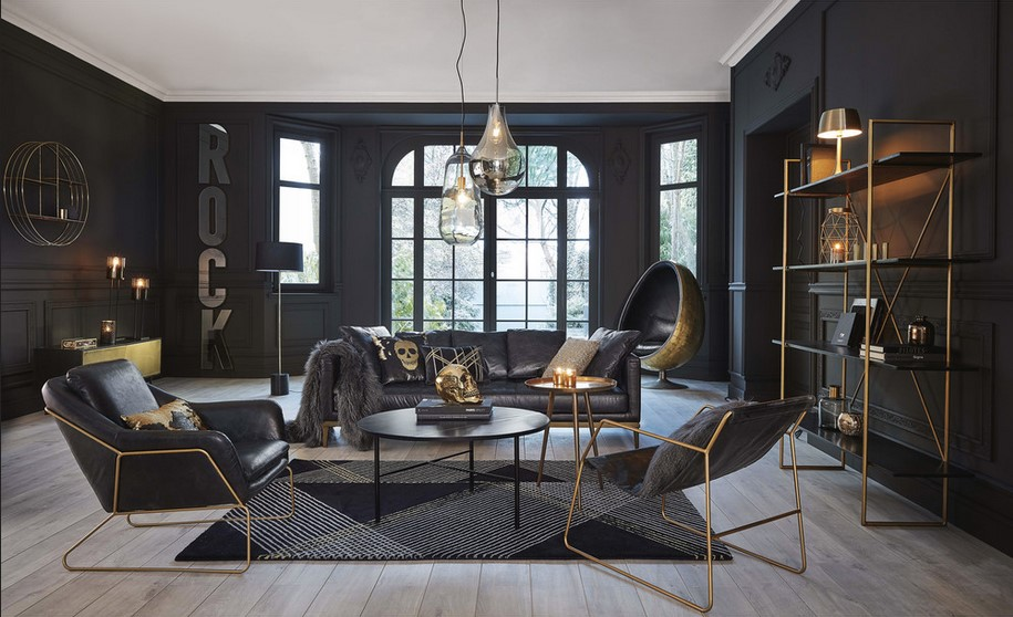 fauteuil cuir noir vintage maisons monde ventana blog. Black Bedroom Furniture Sets. Home Design Ideas
