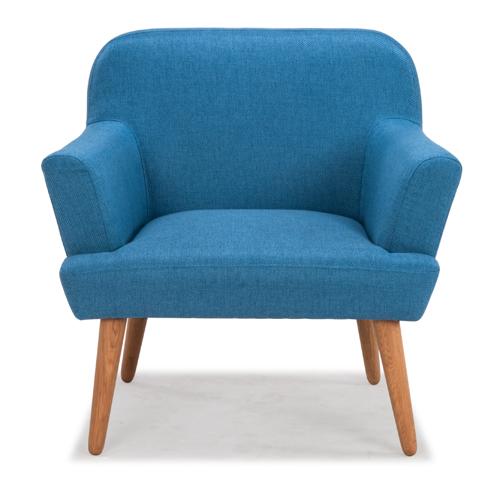 Fauteuil Vintage Sur Iziva Izivacom - Fauteuil tissu bleu