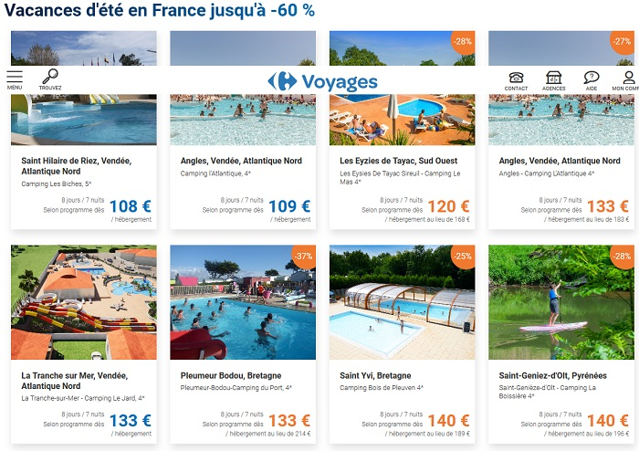 Vacances d'été en France pas cher