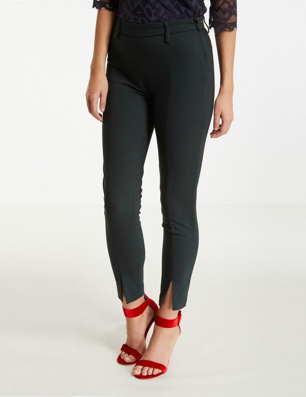 Monshowroom Roos Pantalon Femme Feuilles Scarlet Noir Mille Sx5pqWA5