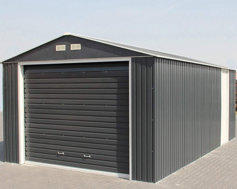 Garage Métal Duramax Porte Sectionnelle 1 Voiture 19 63 M
