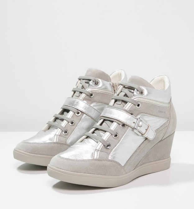 Geox ELENI Baskets montantes silver light grey, Baskets Femme Zalando 87faf37cbb5f