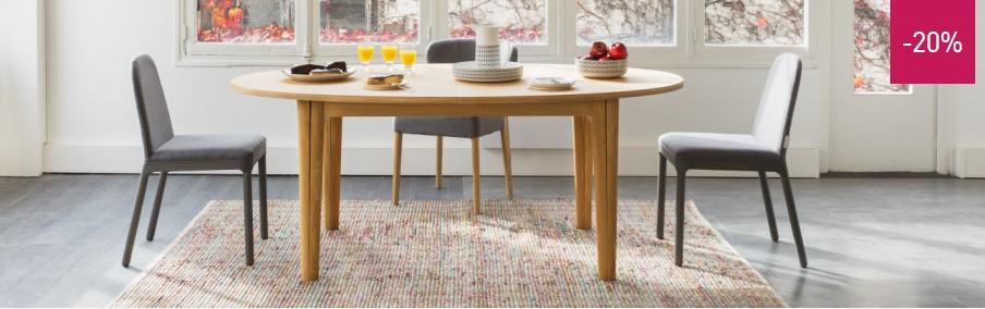 Ega Table de salle à manger à rallonges - Soldes Table Habitat ...