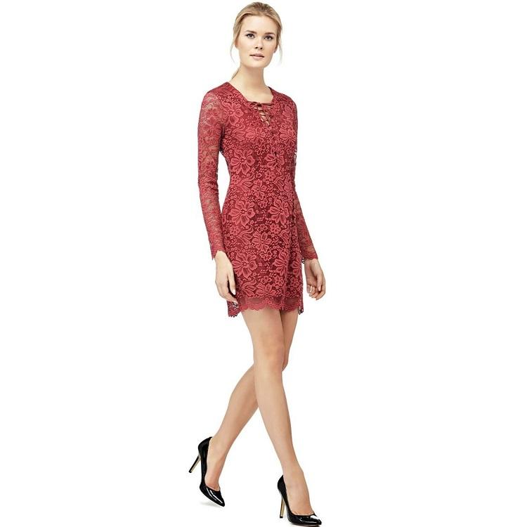 Guess Robe en dentelle rouge - Robe de Soirée Brandalley - Iziva.com 5e9e653a3e1